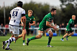 Tom Guest (London Irish) goes on the attack - Photo mandatory by-line: Patrick Khachfe/JMP - Mobile: 07966 386802 22/08/2014 - SPORT - RUGBY UNION - Middlesex - Hazelwood - London Irish v Bristol Rugby - Pre-Season Friendly