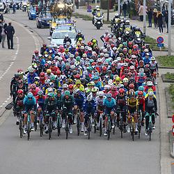 04-04-2021: Wielrennen: Ronde van Vlaanderen (Mannen): Oudenaarde<br />Peloton onderweg in de 105e ronde van Vlaanderen