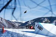 McRae Williams during Ski Slopestyle Practice at 2014 X Games Aspen at Buttermilk Mountain in Aspen, CO. ©Brett Wilhelm/ESPN