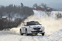 MOTORSPORT - WORLD RALLY CHAMPIONSHIP 2012 - RALLY SWEDEN / RALLYE DE SUEDE - 08 TO 12/02/2012 - KARLSTAD (SWE) - PHOTO : FRANCOIS BAUDIN /  DPPI - ANDREAS MIKKELSEN SKODA FABIA WRC