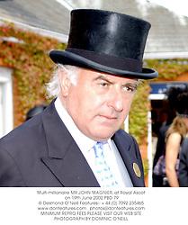 Multi-millionaire MR JOHN MAGNIER, at Royal Ascot on 19th June 2002.PBD 79