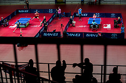 Athletes in action during final match during Day 4 of SPINT 2018 - World Para Table Tennis Championships, on October 20, 2018, in Arena Zlatorog, Celje, Slovenia. Photo by Vid Ponikvar / Sportida