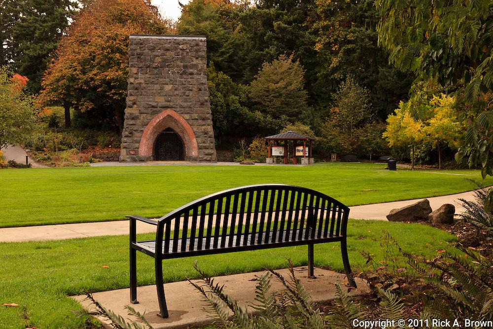 USA, Oregon, Lake Oswego, George Rogers Park, the first iron furnace on the west coast