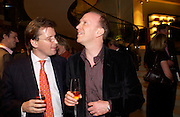 Mark foster-Brown and Charles Sebag-Montefiore. Book party for LAST VOYAGE OF THE VALENTINA by Santa Montefiore (Hodder & Stoughton) Asprey,  New Bond St. 12 April 2005. ONE TIME USE ONLY - DO NOT ARCHIVE  © Copyright Photograph by Dafydd Jones 66 Stockwell Park Rd. London SW9 0DA Tel 020 7733 0108 www.dafjones.com