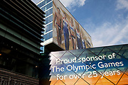 London, UK. Thursday 9th August 2012. London 2012 Olympic Games Park in Stratford. Sponsorship by VISA at Westfield shopping centre.