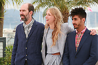 Director Jaime Rosales, actress Ingrid Garcia-jonsson and actor Carlos Rodrigez at the photo call for the film Beautiful Youth (Hermosa Juventud) at the 67th Cannes Film Festival, Monday 19th May 2014, Cannes, France.