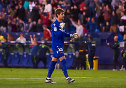 March 10, 2019 - Valencia, U.S. - VALENCIA, SPAIN - MARCH 10: Aitor Fernandez, goalkeeper of Levante UD reacts to decision of referee to the action of VAR during the La Liga match between Levante UD and Villarreal CF at Ciutat de Valencia stadium on March 03, 2019 in Valencia, Spain. (Photo by Carlos Sanchez Martinez/Icon Sportswire) (Credit Image: © Carlos Sanchez Martinez/Icon SMI via ZUMA Press)