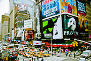 Miniature effect on seventh Avenue in Times Square, Theater District of Manhattan, New York, 2009.