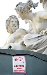 THEMENBILD - Parlament an einen Sonnentag im Jaenner. Der Bau des Parlaments, damals Reichsrat genannt, begann 1861 unter Architekt Theophil Hansen und wurde 1883 fertiggestellt.  das Bild wurde am 25. Jaenner 2012 aufgebommen, im Bild Feature Achtung Videoueberwachung, AUT, EXPA Pictures © 2012, PhotoCredit: EXPA/ M. Gruber