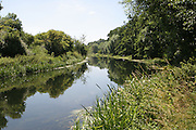 The River Nene near the village of Wadenhoe in Northamptonshire