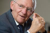 23 FEB 2016, BERLIN/GERMANY:<br /> Wolfgang Schaeuble, CDU, Bundesfinanzminister, waehrend einem Interview, in seinem Buero, Bundesministerium der Finanzen<br /> IMAGE: 20160223-01-007<br /> KEYWORDS: Wolfgang Schäuble