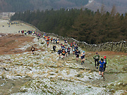 A fell race on the North York Moors, North Yorkshire, UK