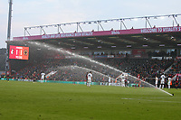 Football - 2018 / 2019 Premier League - AFC Bournemouth vs. Wolverhampton Wanderers<br /> <br /> With the game running into extra time the sprinkler system turns on during the Premier League match at the Vitality Stadium (Dean Court) Bournemouth  <br /> <br /> COLORSPORT/SHAUN BOGGUST