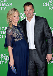 Molly Sims, Scott Stuber attend the premiere of Paramount Pictures' 'Office Christmas Party' at Regency Village Theatre on December 7, 2016 in Los Angeles, CA, USA. Photo by Lionel Hahn/ABACAPRESS.COM