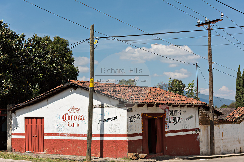 A Mexican bar in the tiny village of Santa Ana Chapitiro, Michoacan, Mexico.