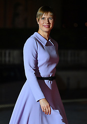 Estonian President Kersti Kaljulaid arriving on eve of the commemoration of the Centenary of Armistice Day 1918 for a State Dinner in Musee d'Orsay, Paris, France on November 10th,2018. Photo by Christian Liewig/ABACAPRESS.COM