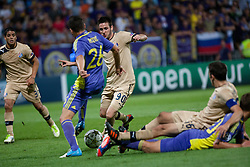 Duje Cop #90 of Dinamo Zagreb and Aleksander Rajcevic #26 of Maribor during Play-offs for Champions League between NK Maribor (Slovenia) and GNK Dinamo Zagreb (Croatia), on August 28, 2012, in Maribor, Slovenia. (Photo by Matic Klansek Velej / Sportida.com)
