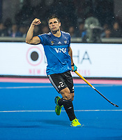 BHUBANESWAR -  Hockey World League finals , Semi Final . Argentina v India. Gonzalo Peillat (Arg) scored and celebrates the goal.   COPYRIGHT KOEN SUYK