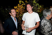 CARL GRIMSTAD; VITO SCHNABEL, Jay Jopling hosts a party at Soho House. Miami Beach. Miami art Basel. 30 November 2010. -DO NOT ARCHIVE-© Copyright Photograph by Dafydd Jones. 248 Clapham Rd. London SW9 0PZ. Tel 0207 820 0771. www.dafjones.com.