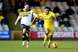Cristian Montano of Bristol Rovers goes past Chris Eagles of Port Vale - Mandatory by-line: Robbie Stephenson/JMP - 18/02/2017 - FOOTBALL - Vale Park - Stoke-on-Trent, England - Port Vale v Bristol Rovers - Sky Bet League One
