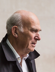 London, October 29 2017. Liberal Democrats leader Vince Cable outside the BBC in London as he arrives for the Sunday Politics programme. © Paul Davey