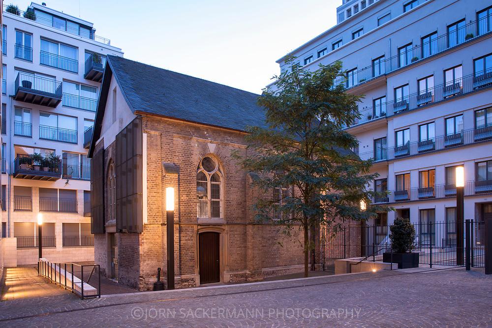 the former monastery chapel St. Joseph in the Frisenviertel quarter, today a art gallery, Cologne, Germany.<br /> <br /> die ehemalige Klosterkapelle St. Joseph im Friedenviertel, heute eine Galerie, Koeln, Deutschland.