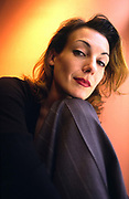 Ute Lemper, German performer, artiste and singer who specialises in cabaret music  of 1930's Weimar Germany. London, UK.