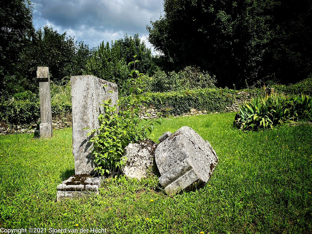 Old graveyard at Hostun, a small village in France.