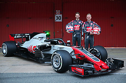 February 26, 2018 - Barcelona, Catalonia, Spain - presentation of the Haas team during the tests at the Barcelona-Catalunya Circuit, on 27th February 2018 in Barcelona, Spain. (Credit Image: © Joan Valls/NurPhoto via ZUMA Press)