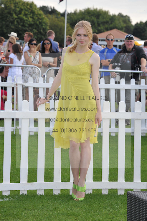 KATIA ELIZAROVA at the 27th annual Cartier International Polo Day featuring the 100th Coronation Cup between England and Brazil held at Guards Polo Club, Windsor Great Park, Berkshire on 24th July 2011.