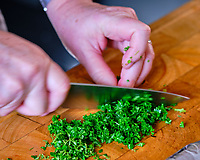 Fresh Parsley. Image taken with a Fuji X-T3 camera and 80 mm f/2.8 macro lens (ISO 160, 80 mm, f/4.5, 1/30 sec).