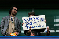Photo: Tom Dulat.<br /> <br /> Chelsea v Queens Park Rangers. FA Cup Third Round. 05/01/2008. <br /> <br /> Fan holds the board.