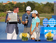 151122  The multiple trophy presentation on 18 following the Final round of The CME Group LPGA Tour Championship at The Tiburon Golf Club, in Naples, Fl.(photo credit : kenneth e. dennis/kendennisphoto.com)