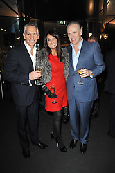 Left to right, GARY LINEKER, JACKIE ST.CLAIR and CARL MICHAELSON at the launch of One Hyde Park, The Residences at Mandarin Oriental, Knightsbridge, London on 19th January 2011.
