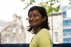 Pictured: Sharon Bala<br /> <br /> Sharon Bala (born April 3, 1979) is a Canadian writer residing in St. John's, Newfoundland and Labrador.  Her debut novel, The Boat People, won the Percy Janes First Novel Award for unpublished manuscripts in 2015,[2] and was shortlisted for the 2015 Fresh Fish Award for Emerging Writers