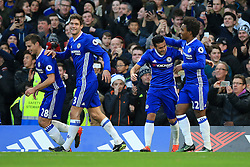 Chelsea celebrate Asmir Begovic of Chelsea goal, Chelsea 1-0 Bournemouth Goal, Asmir Begovic of Chelsea scores, Chelsea 1-0 Bournemouth - Mandatory by-line: Jason Brown/JMP - 26/12/2016 - FOOTBALL - Stamford Bridge - London, England - Chelsea v Bournemouth - Premier League