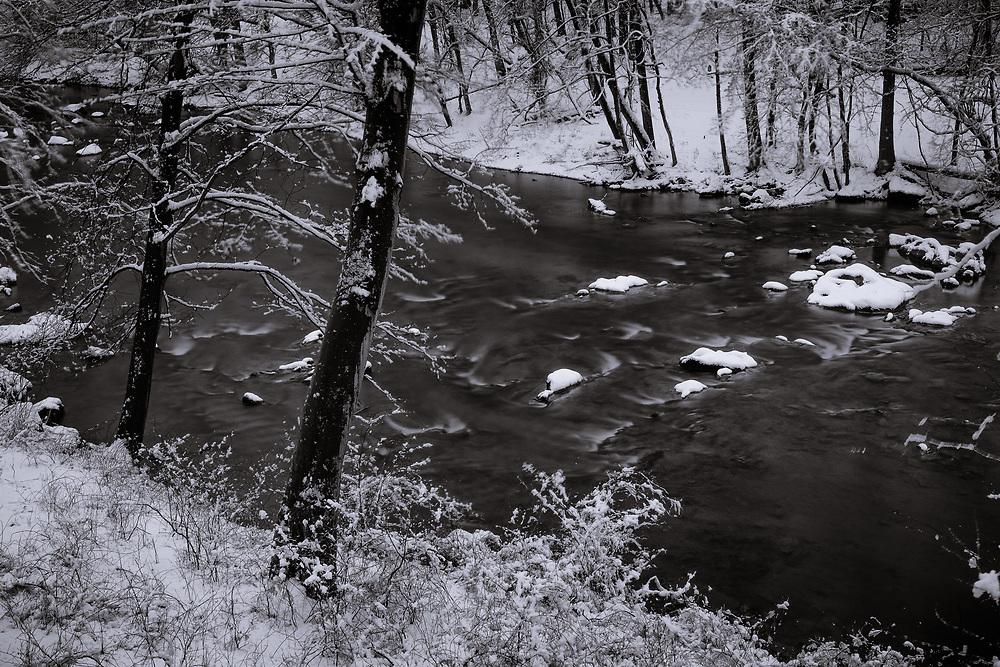 Spring snow on the Patapsco River. #2