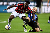 Frank Kessie of AC Milan and Marcelo Brozovic of Internazionale compete for the ball during the Serie A 2018/2019 football match between Fc Internazionale and AC Milan at Giuseppe Meazza stadium Allianz Stadium, Milano, October, 21, 2018 <br />  Foto Andrea Staccioli / Insidefoto