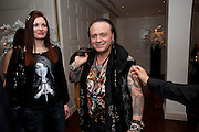 RITA CERNIANSKAITE; CIRO ORSINI, Book launch party for the paperback of Nicky Haslam's book 'Sheer Opulence', at The Westbury Hotel. London. 21 April 2010