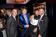 DEAN CATEN (OF DQUARED2 ) RONNIE WOOD;  ANA ARAUJO; DAN CATEN, DSquared2 Launch of their Classic collection. Tramp. Jermyn St. London. 29 June 2011. <br /> <br />  , -DO NOT ARCHIVE-© Copyright Photograph by Dafydd Jones. 248 Clapham Rd. London SW9 0PZ. Tel 0207 820 0771. www.dafjones.com.