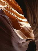 Wild scenery within a slickrock slot canyon, Colorado Plateau in Northern Arizona.  LAW