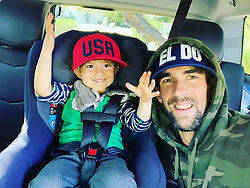 "Michael Phelps releases a photo on Instagram with the following caption: ""First thing @boomerrphelps grabs when he gets in the car is my hat... so we HAD to take a pic !! #eldo #gooddayatschool"". Photo Credit: Instagram *** No USA Distribution *** For Editorial Use Only *** Not to be Published in Books or Photo Books ***  Please note: Fees charged by the agency are for the agency's services only, and do not, nor are they intended to, convey to the user any ownership of Copyright or License in the material. The agency does not claim any ownership including but not limited to Copyright or License in the attached material. By publishing this material you expressly agree to indemnify and to hold the agency and its directors, shareholders and employees harmless from any loss, claims, damages, demands, expenses (including legal fees), or any causes of action or allegation against the agency arising out of or connected in any way with publication of the material."