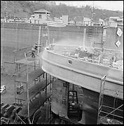 "ackroyd-P172-08 ""Tug Munsee. February 11, 1966"" (Port of Portland drydock on Swan Island)"