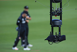 Spidercam during the ICC Champions Trophy, Group A match at Sophia Gardens, Cardiff. PRESS ASSOCIATION Photo. Picture date: Friday June 9, 2017. See PA story CRICKET India. Photo credit should read: Nigel French/PA Wire. RESTRICTIONS: Editorial use only. No commercial use without prior written consent of the ECB. Still image use only. No moving images to emulate broadcast. No removing or obscuring of sponsor logos.