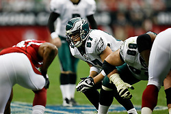 18 Jan 2009: Philadelphia Eagles tight end Brent Celek #87 before a field goal attempt during the NFC Championship game against the Arizona Cardinals on January 18th, 2009. The Cardinals won 32-25 at University of Phoenix Stadium in Glendale, Arizona. (Photo by Brian Garfinkel)