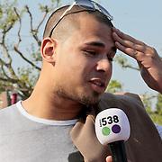 NLD/Amsterdam/20110430 - Koninginnedagconcert Radio 538, Afrojack, Nick van de Wall  met partner Amanda Balk