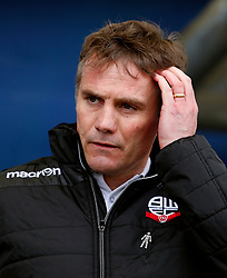 Bolton Wanderers manager Phil Parkinson looks dejected - Mandatory by-line: Matt McNulty/JMP - 15/04/2017 - FOOTBALL - Boundary Park - Oldham, England - Oldham Athletic v Bolton Wanderers - Sky Bet League 1
