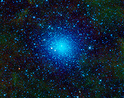 NASA's WISE has captured an image of Omega Centauri. Also known as NGC 5139, this celestial cluster of stars can be found in the constellation Centaurus. Omega Centauri contains approximately 10 million stars and is about 16,000 light-years away.