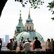 Tourists at Prague Castle