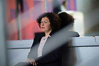 DEU, Deutschland, Germany, Berlin, 10.05.2021: Palais der Kulturbrauerei,  Amira Mohamed Ali, Fraktionsvorsitzende von DIE LINKE, bei der Bekannntgabe zur Spitzenkandidatur der Partei DIE LINKE zur Bundestagswahl.